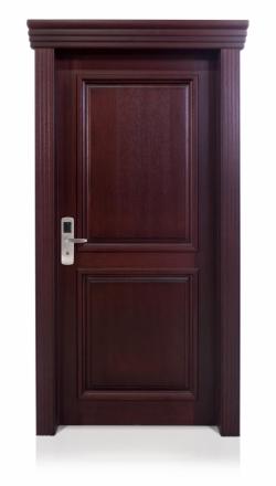 Πόρτα μασίφ, πυράντοχη, σε ξυλεία Meranti