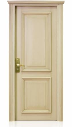 Πόρτα μασίφ, πυράντοχη, σε πατίνα, με κλειδαριά τύπου ξενοδοχείου