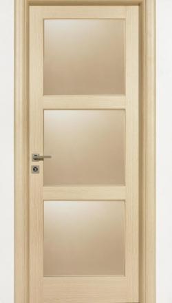 Εσωτερική πόρτα ημιμασίφ με τζάμια