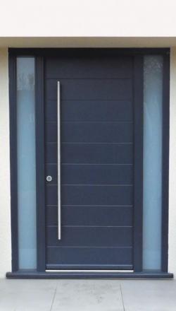 Πόρτα ασφαλείας με διπλο σταθερο αμμοβολή